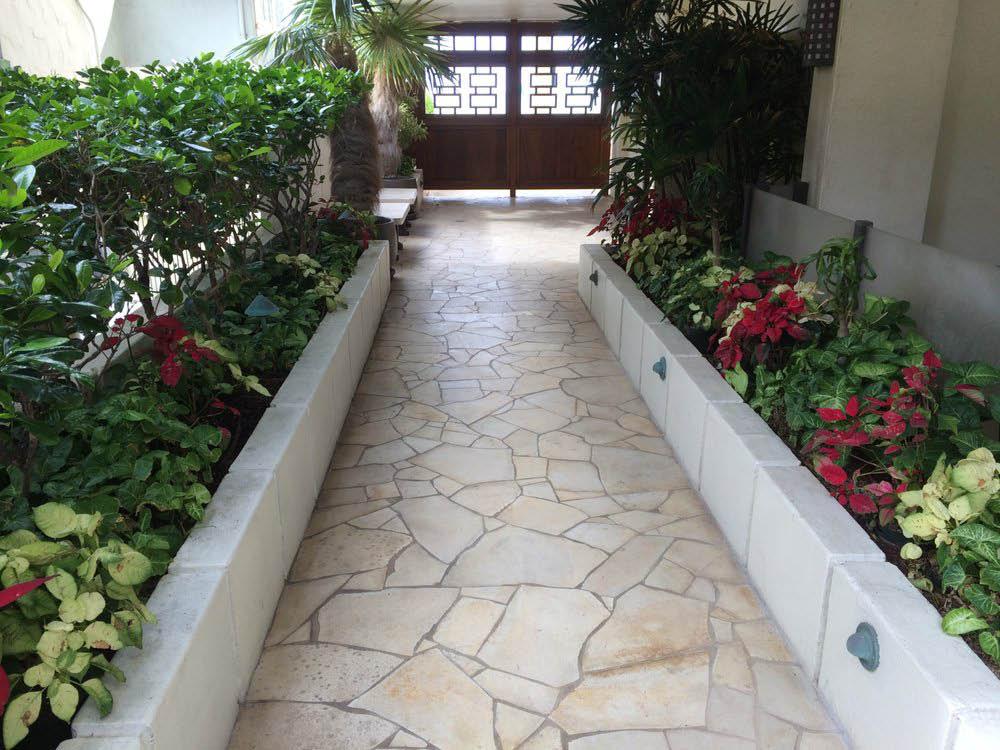 Stone pavers, landscape design near Honolulu