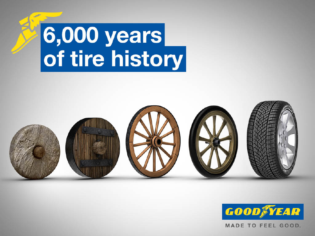Goodyear- decades of tire innovations and evolutions