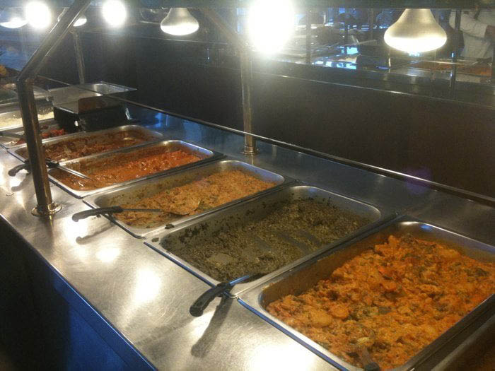 Dine on gourmet foods at our dine-in fresh buffet