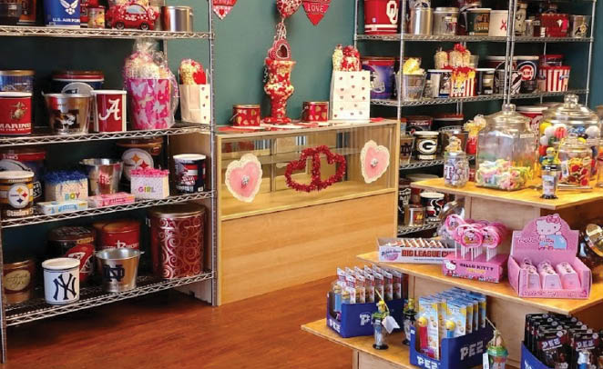 area of store at Grandpa's Popcorn in North Richland Hills, TX