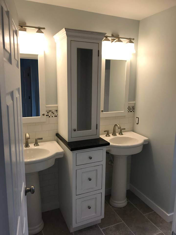 Custom-made bathroom vanity cabinets in Howard, PA