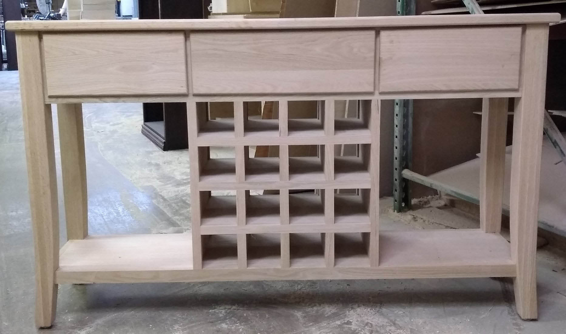 Wine cabinet - handmade all-natural wood near Nittany, PA