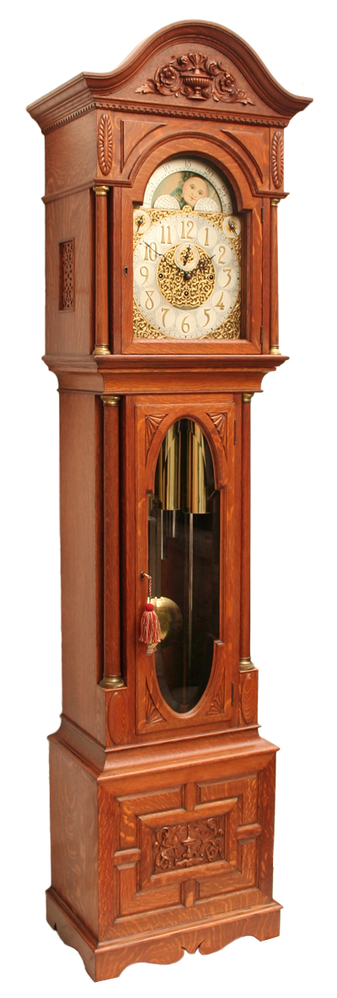 Grandfather clock at Doc's Timekeeping Machines in Port Orchard, WA