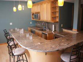 Granite & Marble by Design in Oak Creek, WI has the access to the BEST SELECTION of exotic granite, marble, Quartz for your Rec Room