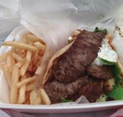 Greek Corner Restaurant, gyro, wrap
