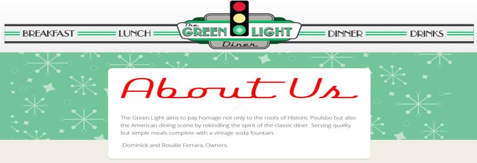 Green Light Diner in Poulsbo, WA banner