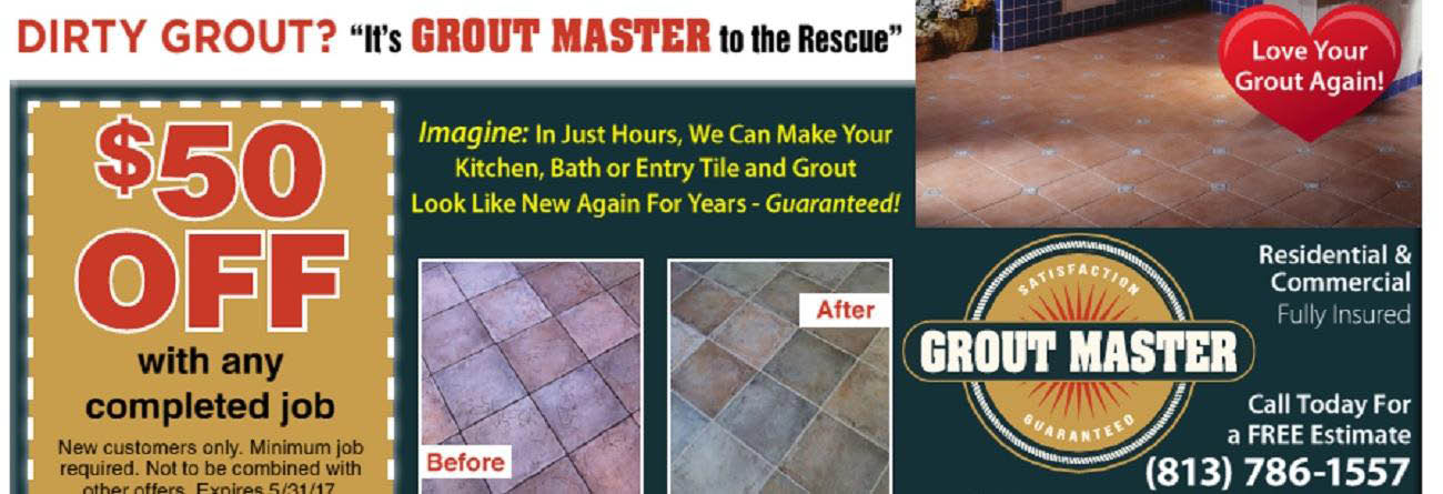 GROUT MASTER OF TAMPA BANNER