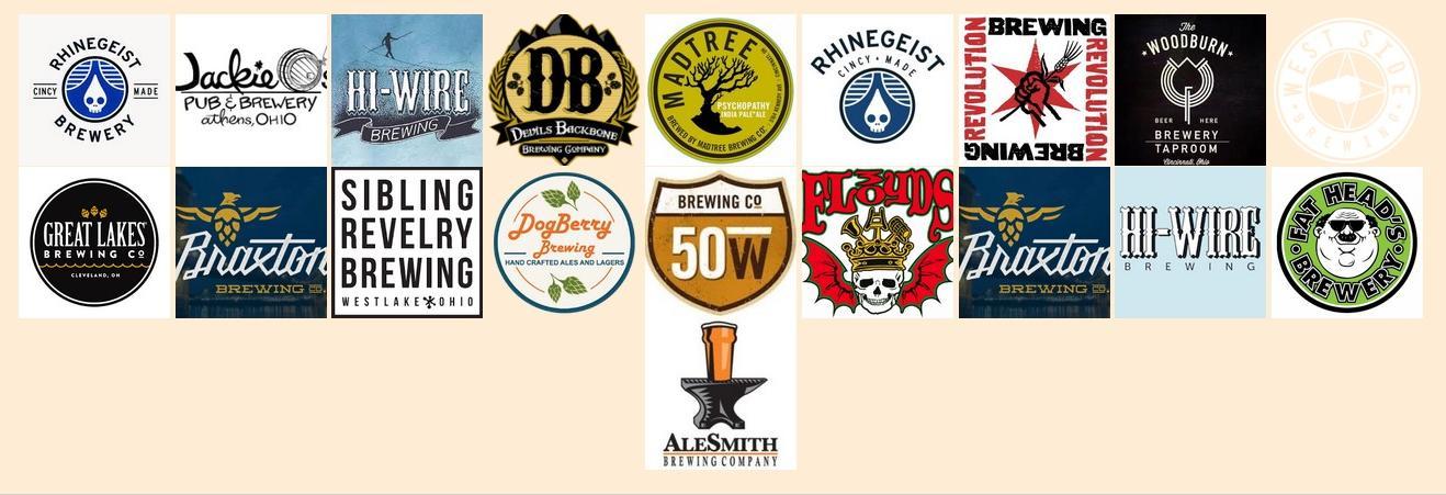 the growler stop beer selection logos newtown ohio