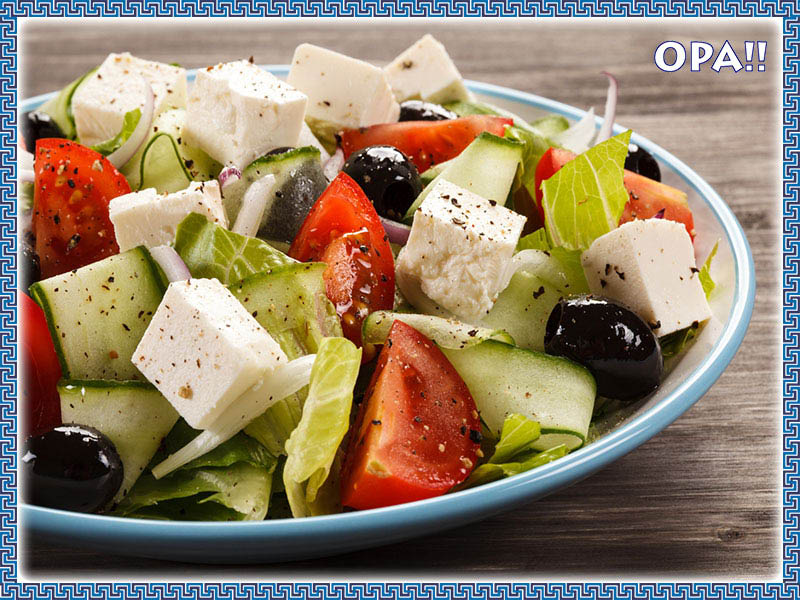 Greek salad from Gyro City Grill near Atlanta