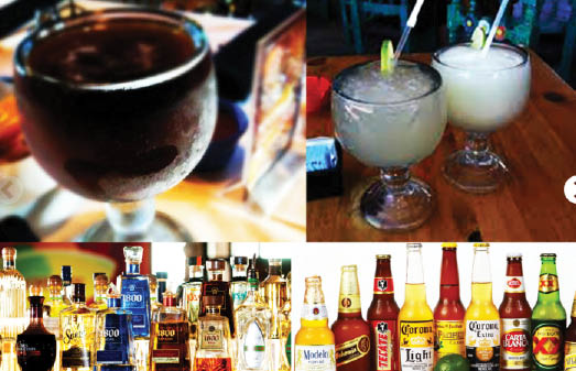 alcoholic beverages at habaneros grill & cantina in fort worth, tx