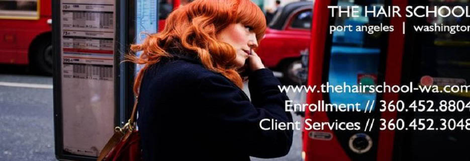 The Hair School in Port Angeles, WA Banner ad