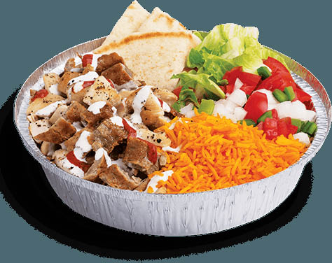 The Halal Guys  meat bowl with lamb near Memorial, TX