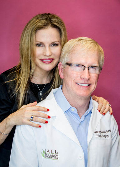 Plastic Surgeon Dr. Hall with a happy patient