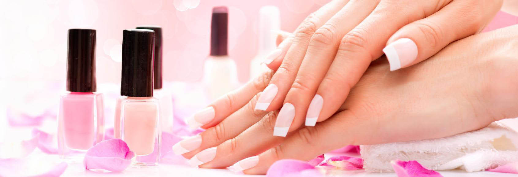 Discount manicures pedicures eyebrow treatment skin care beautiful french manicure nail tips from happy nails spa banner prinsesfo Gallery