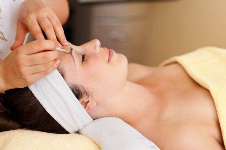 Pamper yourself with professional eyebrow treatments or hair removal