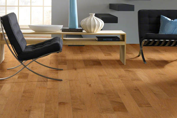 Hardwood flooring adds texture to traditional or modern room interiors