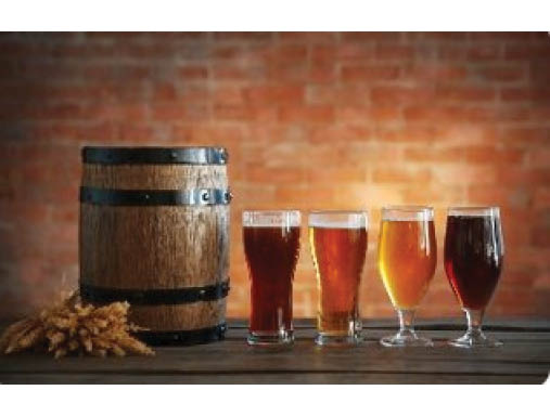 Craft beer by the glass or keg