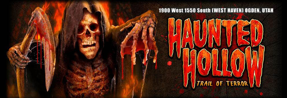 Haunted Hollow: Trail of Terror Haunted House banner