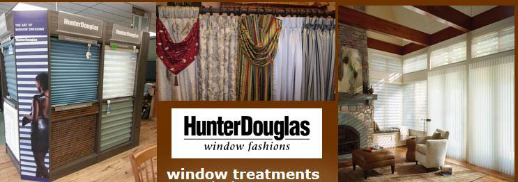 We sell quality Hunter Douglas Blinds at Barron Paint & Decorating Center