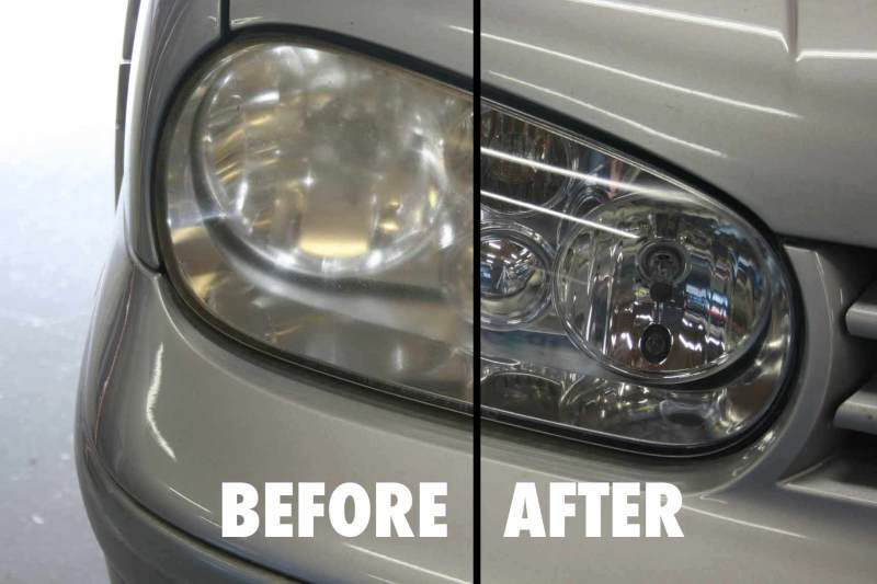 Get dull clouded headlights bright like new