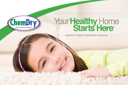 Girl lying on clean, fresh carpet with eco-friendly Certified Chem-Dry Carpet & Upholstery Cleaning in Mount Vernon and Skagit County, WA.