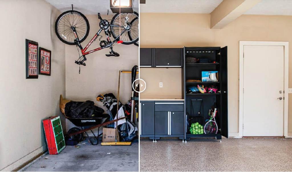 before & after garage floor coating