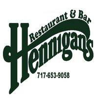 Hennigans Restaurant & Bar sign