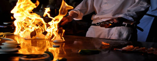 Fresh Grilled Hibachi entres.