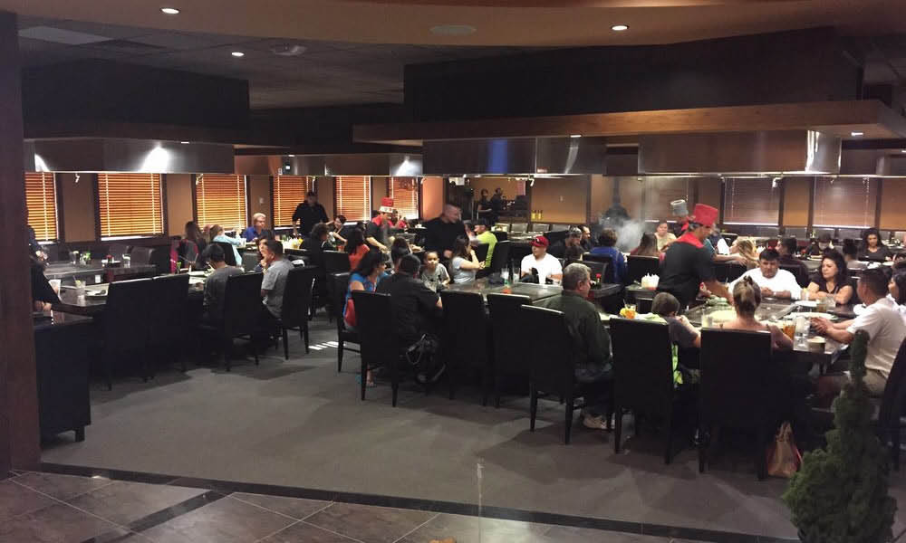 hibachi one albuquerque inside. cook and eat and be entertained