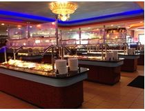 Over 250 buffet items daily, including fresh sushi