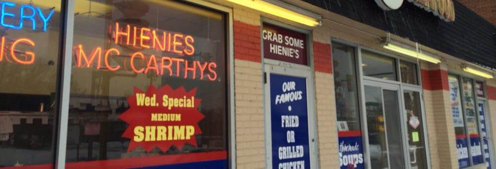 Exterior photo of HIenie's McCarthy's located in Orland Park since 1978.