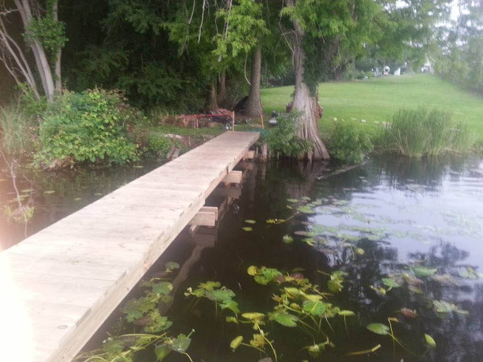 Fishing dock construction near North Charleston