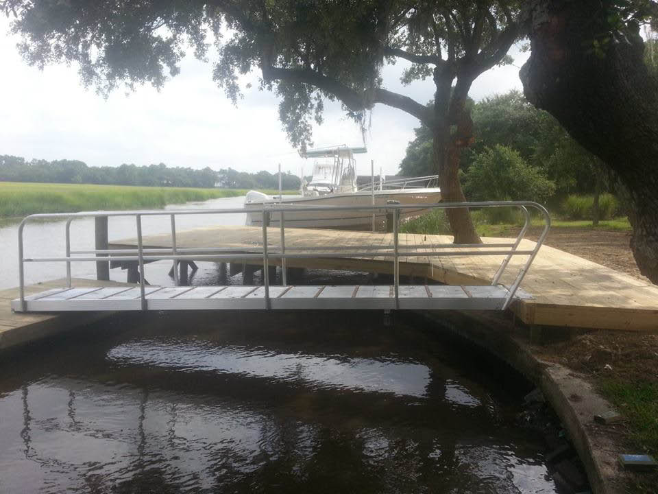 Boat dock near Mt Pleasant, SC