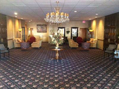 Entrance lobby at Hills located in Palos Hills, IL.