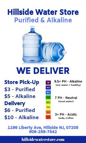Purified and Alkaline water pick up and delivery near Hillside, NJ