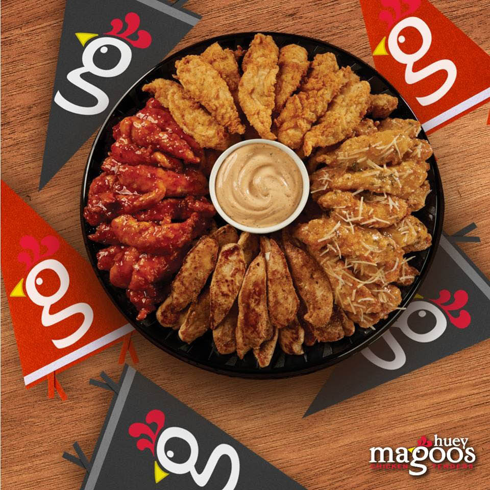 Assorted chicken wings party tray
