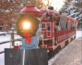 Holiday Express Christmas Train Blackberry Farm Fox Valley Park District in North Aurora, IL