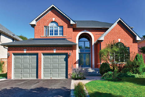 Privacy garage doors for homes.