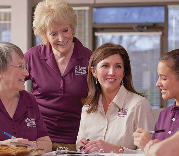 some of the team at Home Instead Senior Care in Fort Worth, TX