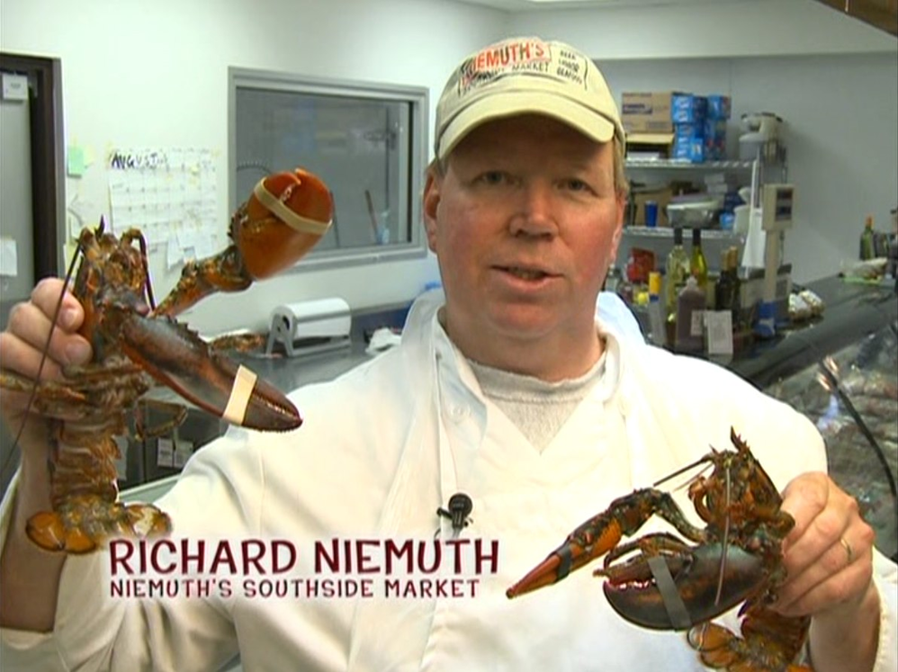 fresh lobster at Niemuth's Southside Meat Market