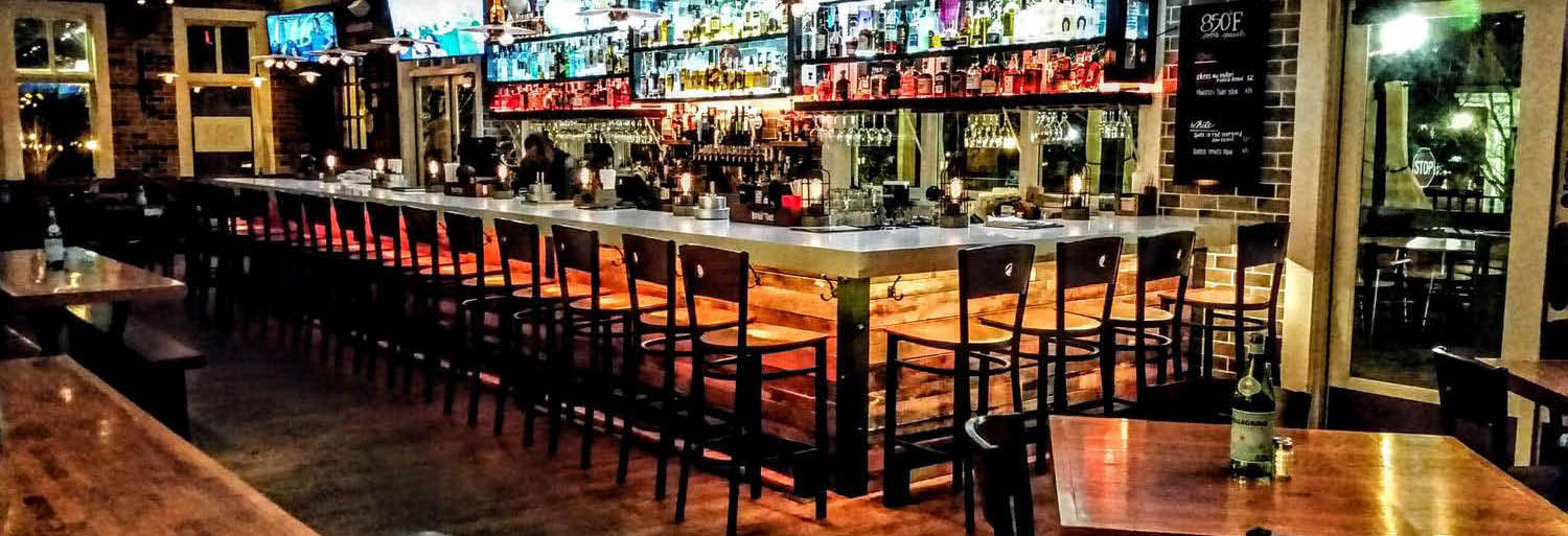 Interior bar with flat screens photo banner