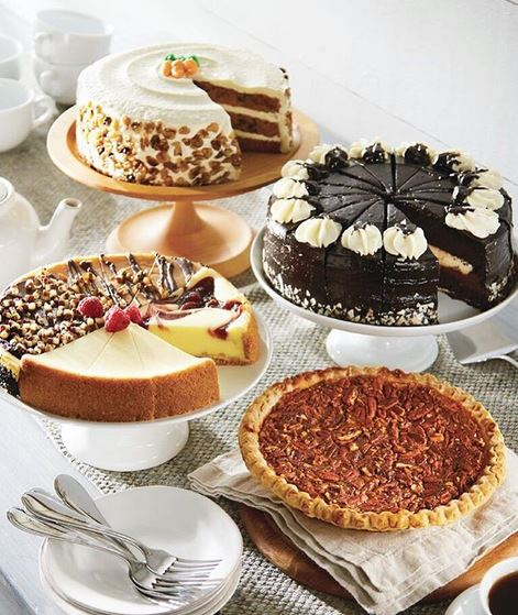 Honey Baked Ham's selection of cakes and pies