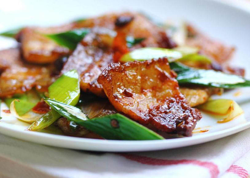 twice cooked sliced pork