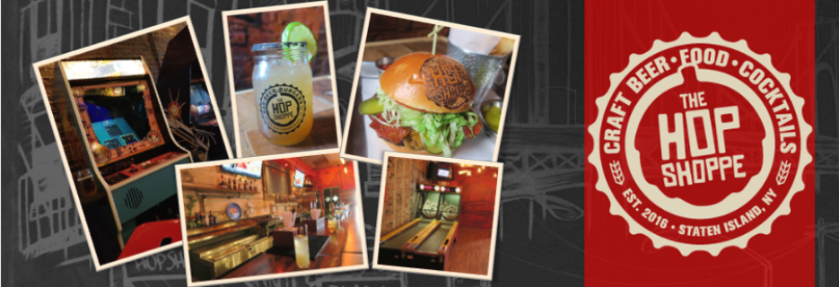 hop shoppe, hops, craft beer, cocktail, beer, staten island, bar, pub grub, coupon