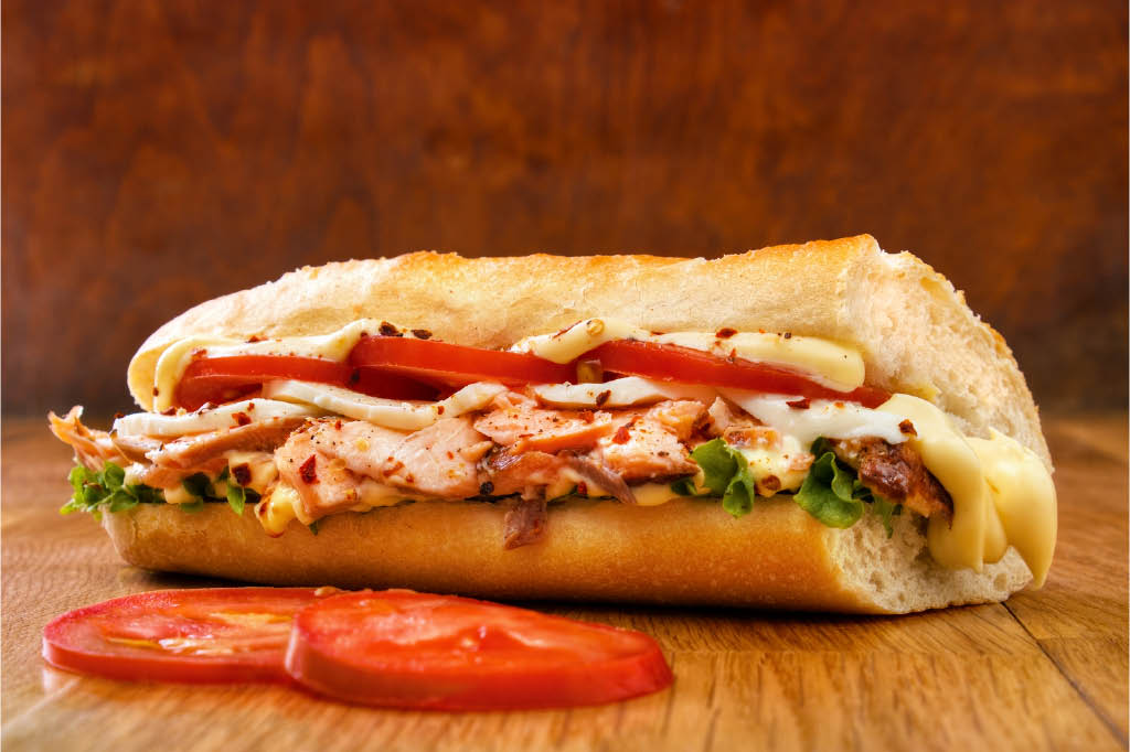 juicy sandwich special one of a kind tomato lettuce delicious