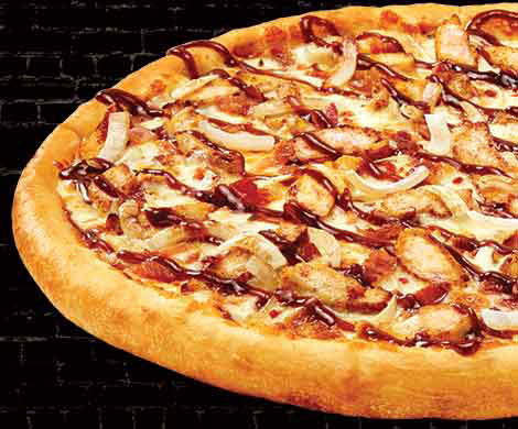 Smoky Barbecue Chicken pizza