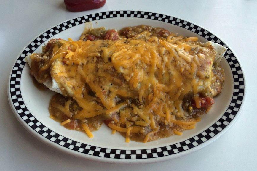 hub diner breakfast burrito