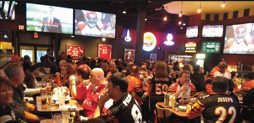 Picture of inside of The Hub Sports Bistro in Macomb, MI