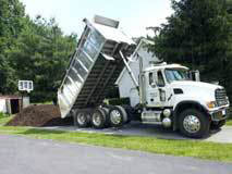 Huffer Trucking and Bulk Services in Frederick, MD grading and stoning