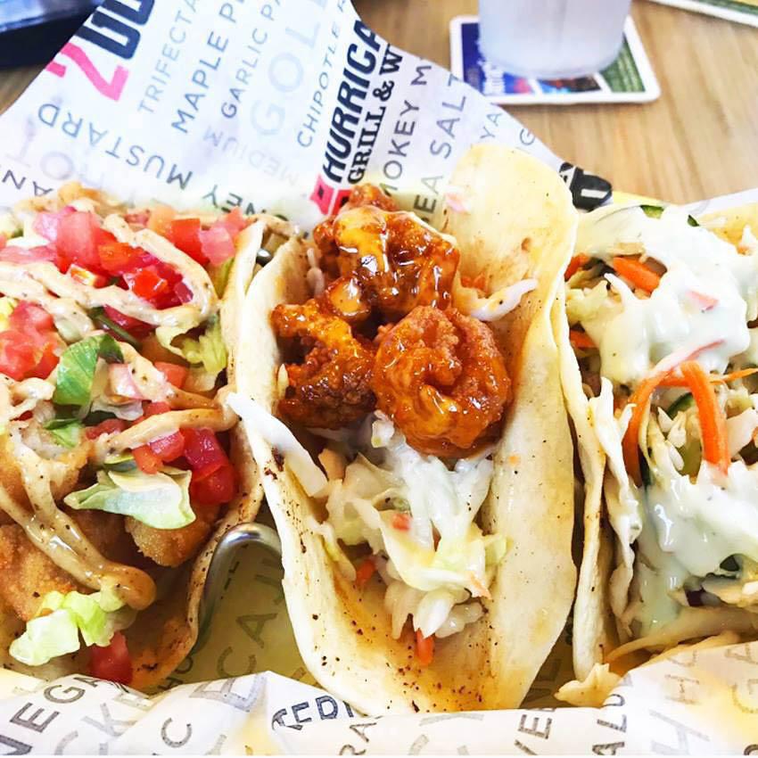 Firecracker Shrimp Tacos from Hurricane Grill & Wings
